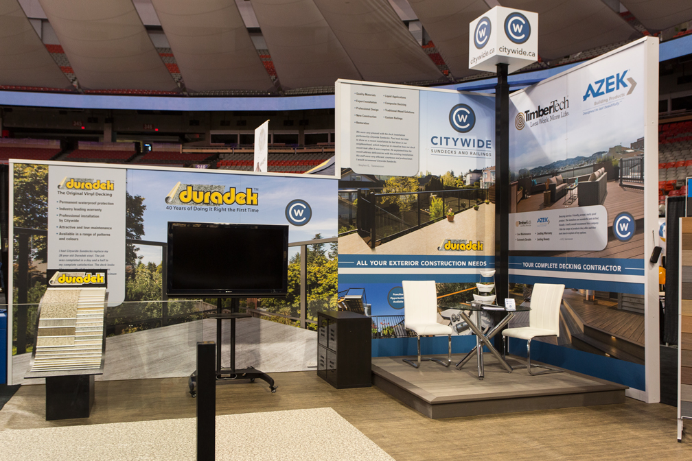 Citywide Sundecks and Railings Home show booth - duradek - TimberTech - Azek