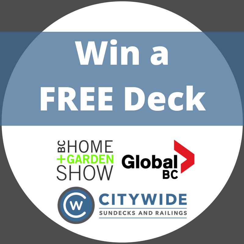 Home show deck giveaway blog | Citywide Sundecks and Railings