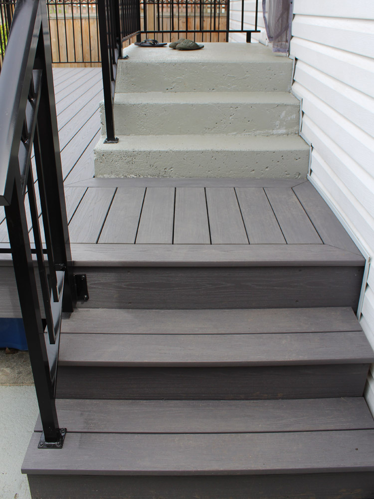 composite stairs and custom railings | Citywide Sundecks and Railings