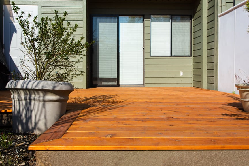 cedar patio installation | Citywide Sundecks and Railings