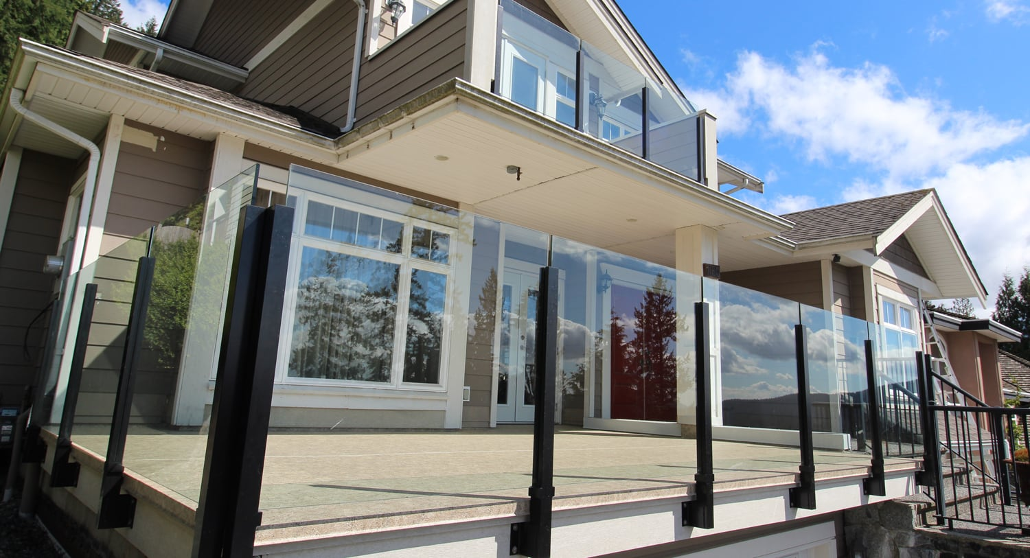 custom glass railings | Citywide Sundecks and Railings