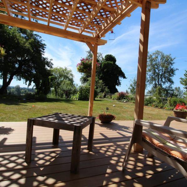 custom built deck pergola awning   Citywide Sundecks and Railings