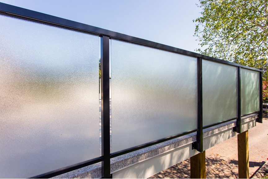 custom frosted glass aluminum railings | Citywide Sundecks and Railings