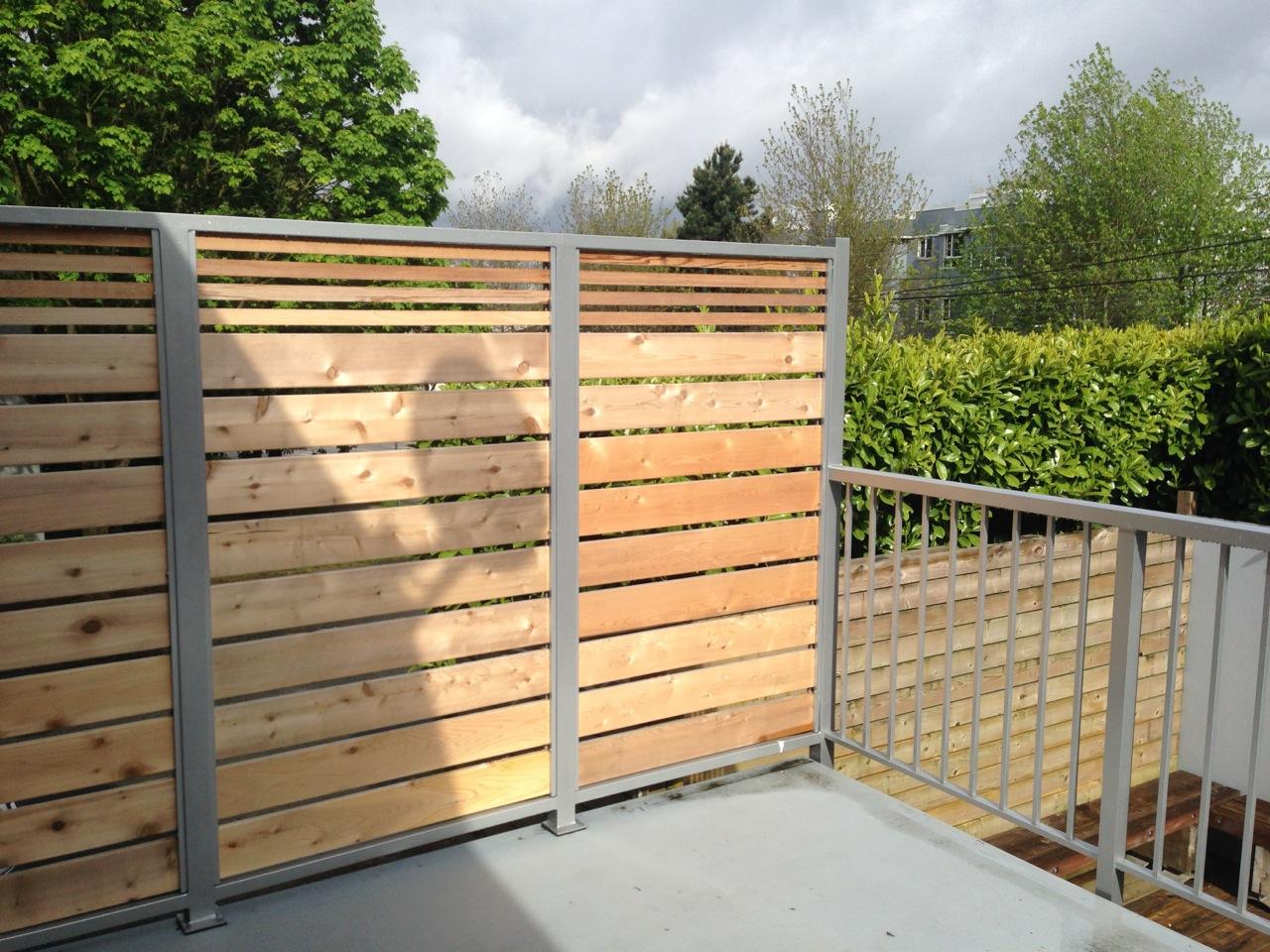 Cedar Slat + Aluminum Custom Privacy wall | Citywide Sundecks