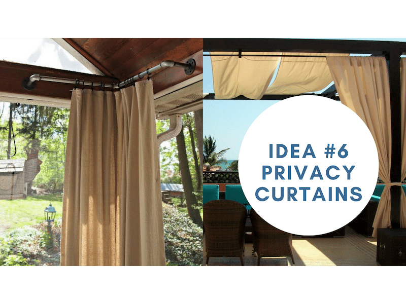 customize your sundeck with privacy curtains | Citywide Sundecks and Railings