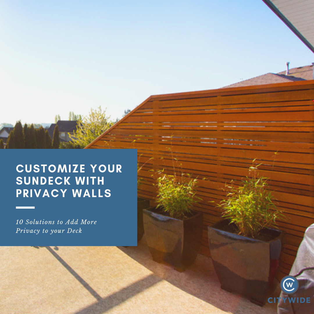 Custom sundeck privacy wall | Citywide Sundecks and Railings