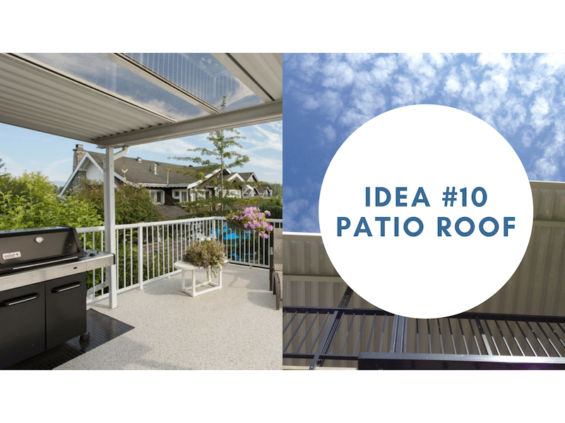 customize your sundeck with a patio roof | Citywide Sundecks and Railings