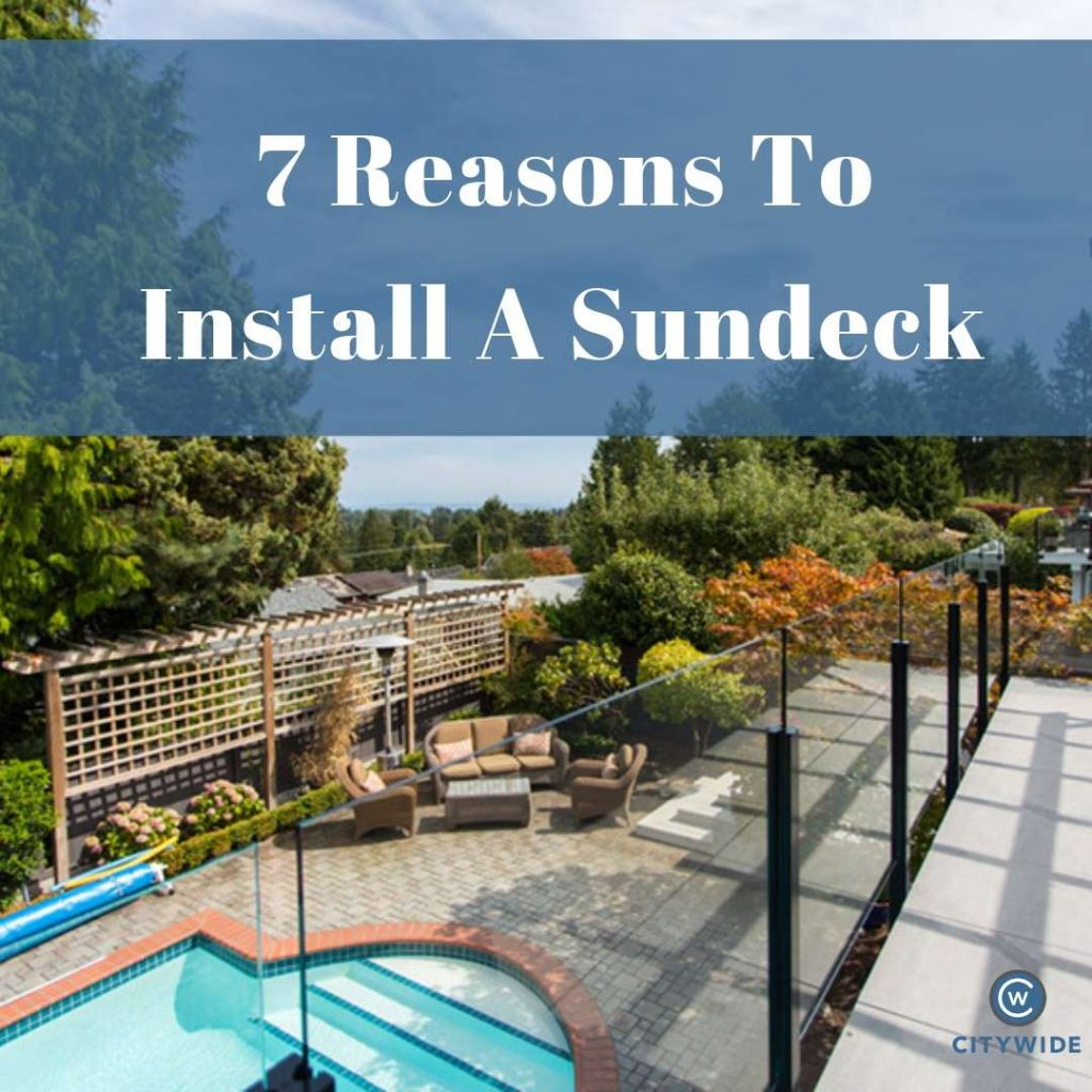 Top Reasons To Install a Sundeck