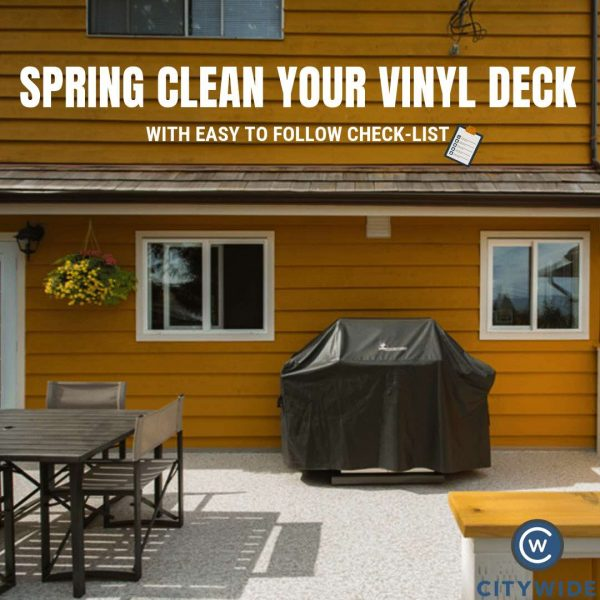 How to spring clean your vinyl decking
