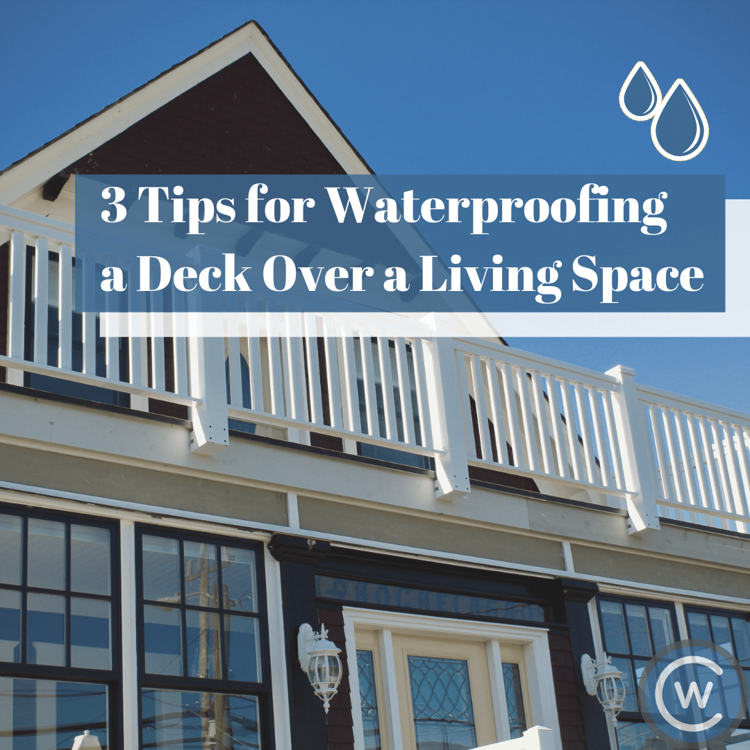 Waterproof decking over living space